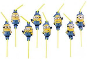 """8 pailles """"Minions"""""""
