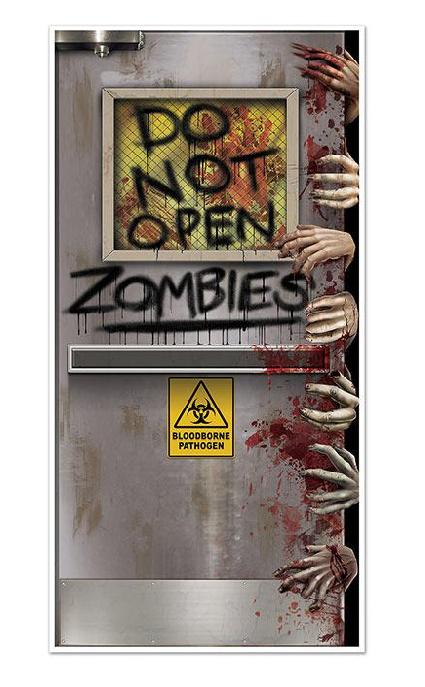 """Déco murale """"Attention Zombies"""""""
