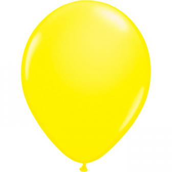 8 ballons de baudruche UV fluorescents - jaune fluo
