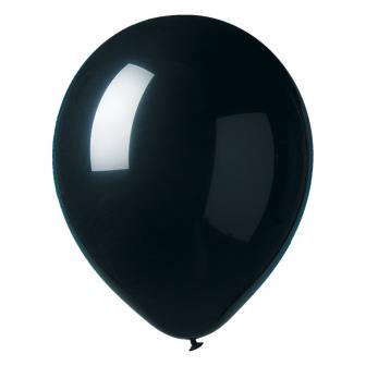 12 ballons de baudruche unicolores - noir