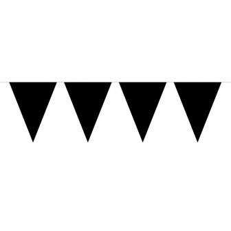 Guirlande de fanions unicolore 10 m - noir