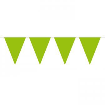 Guirlande de fanions unicolore 10 m - vert