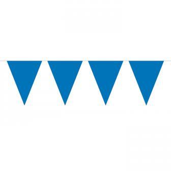 Guirlande de fanions unicolore 10 m - bleu