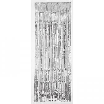 """Rideau de porte à franges métallisées """"Glamour"""" 241 cm - argenté"""