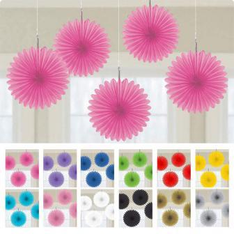 """Déco de plafond """"Fleurs en papier alvéolé"""" 15 cm 5 pcs."""