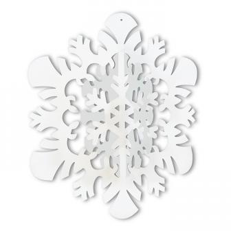 """Déco de plafond 3D """"Flocon de neige"""" 36 cm"""