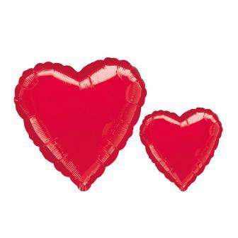 "Ballon en aluminium ""Coeur rouge"""