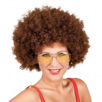 Perruque afro - châtain