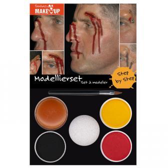 Set de maquillage & modelage Aqua pour blessures 6 pcs