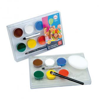 "Kit de maquillage à l'eau ""Couleurs festives"" 9 pcs."