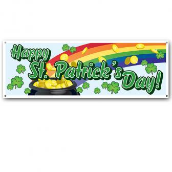 """Bannière """"Happy St. Patrick's Day"""" 152 cm"""