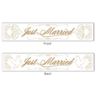"""Bannière """"Just married"""" 13 x 70 cm"""