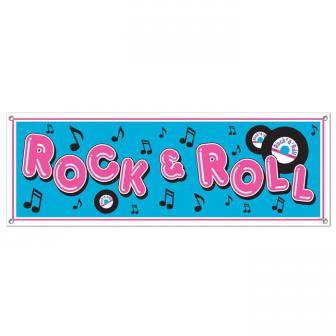 Bannière Rock 'n' Roll 1,5 m