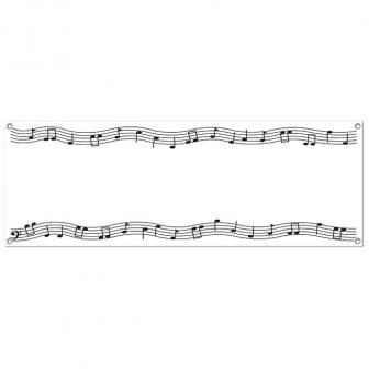 """Bannière """"Partitions de musique"""" 152 x 53 cm"""