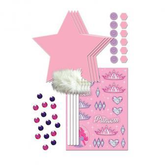 """Kit créatif """"Baguettes magiques de princesse"""" 33 pcs."""