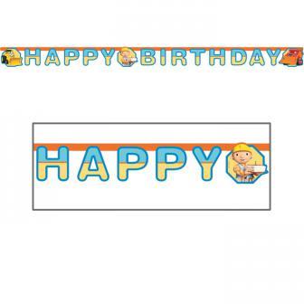 """Guirlande Bob le bricoleur """"Happy Birthday"""" 180 cm"""
