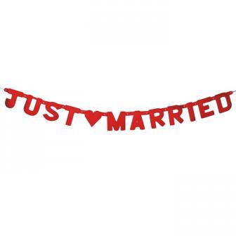 "Guirlande de lettres  ""Just Married"" 1,5 m"