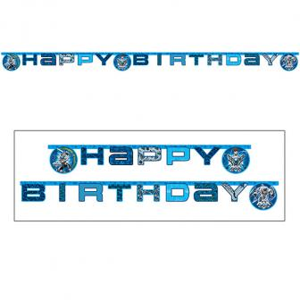 "Guirlande de lettres ""Max Steel"" Happy Birthday 1,8 m"