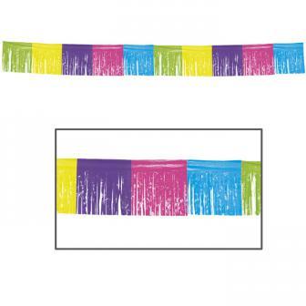 Guirlande de franges multicolores 10 m