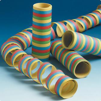 3 rouleaux de serpentins multicolores