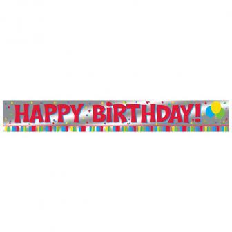 "Bannière en alu ""Happy Birthday"" 183 cm"