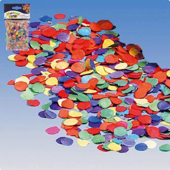 Confettis multicolores en papier