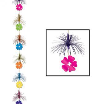 """Déco de plafond """"Pluie de fleurs avec fontaines"""" 2,1 m"""