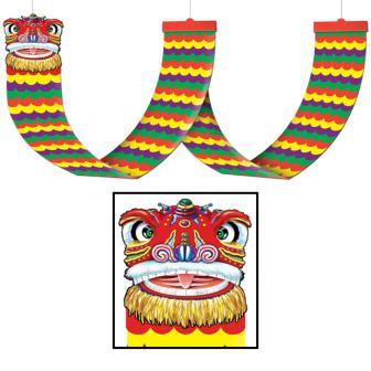 """Déco de plafond """"Le dragon chinois"""" 370 cm"""