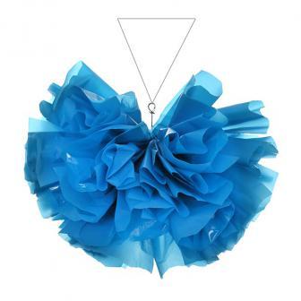 Demi-boule en film brillant mat 35 cm - turquoise