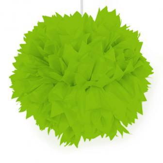 """Déco de plafond """"Pompon en papier crépon"""" 30 cm - vert"""