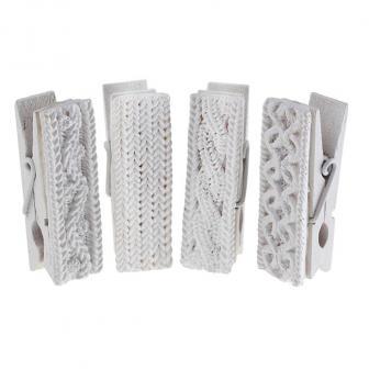 """Pinces décoratives """"Motif tricot hivernal"""" 4-pcs"""