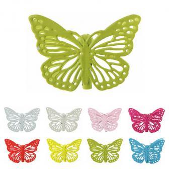 "4 clips en métal ""Papillon"""