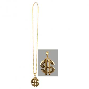 """Collier Dollar """"Gangster Style"""" 78 cm"""