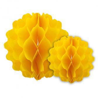 2 pack de suspensions en papier alvéolé - jaune