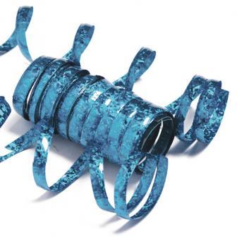 Serpentins unis à paillettes - bleu turquoise
