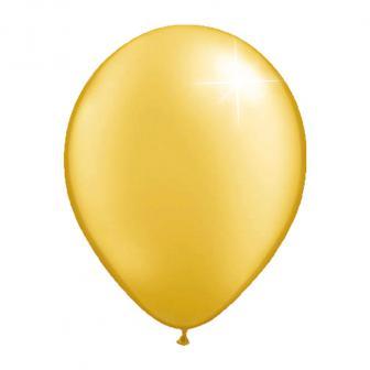 10 Ballons de baudruche unis métallisés - or