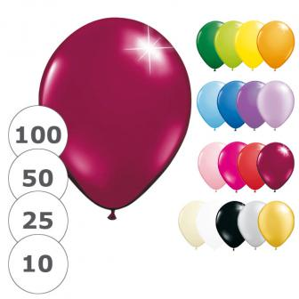 Ballons de baudruche unis métallisés