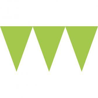 """Guirlande en papier unicolore """"Jeux de couleurs"""" 4,5 m - vert"""