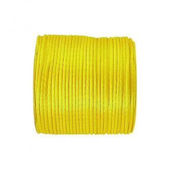 Cordelette unicolore en satin 25 m - jaune