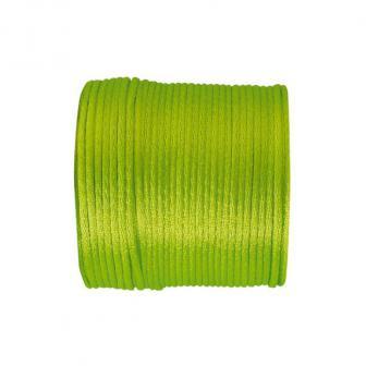 Cordelette unicolore en satin 25 m - vert