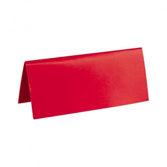 10 cartons nominatifs unicolores - rouge