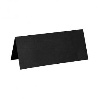 10 cartons nominatifs unicolores - noir