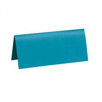 10 cartons nominatifs unicolores - turquoise