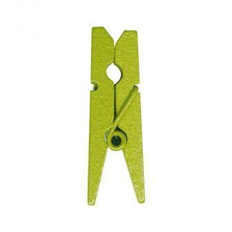 12 épingles de déco unicolores - vert