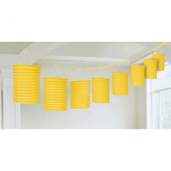 Guirlande de lanternes unicolores 360 cm - jaune
