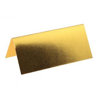 """10 cartons de table unicolores """"Metallic"""" - doré"""