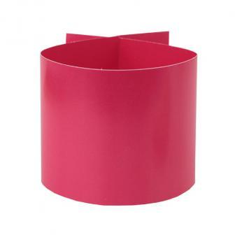 6 ronds de serviette unicolores en carton - rose vif