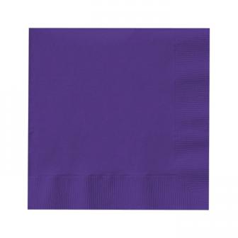 20 serviettes unies - lilas