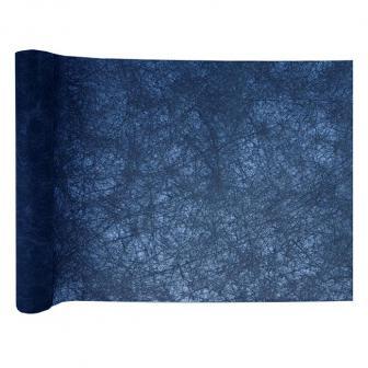 Einfarbiger Deko-Vlies Tischläufer 5 m-dunkelblau