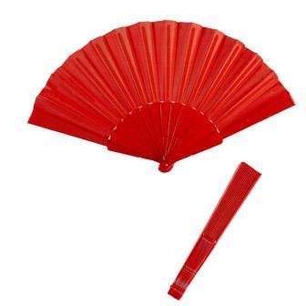 Éventail unicolore 23 cm - rouge